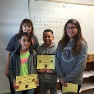 Students of the Month- Congratulations to Alyssa, Luis, and Amy for  demonstrating strong work habits!